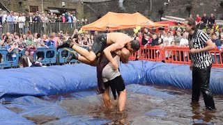 Fighters Get Saucy At Gravy Wrestling Championship