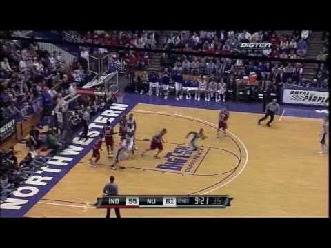 Northwestern Wildcats Basketball vs. Indiana Hoosiers - 1/28/09 Video