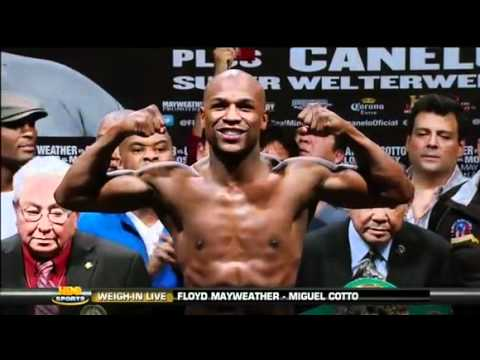 Floyd Mayweather Jr vs Miguel Cotto Weigh-In [HD]