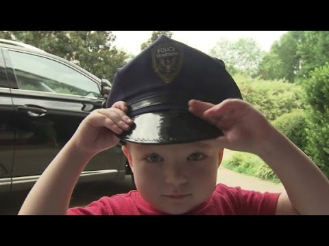4-year-old with leukemia dreams of being a cop