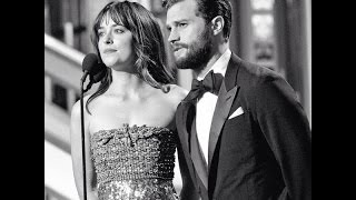 Jamie Dornan & Dakota Johnson present at Golden Globe Awards