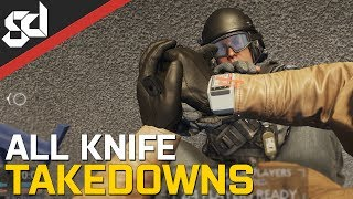 All Battlefield Hardline melee takedown animations  KNIFE / BAT / BATON