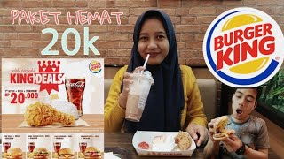 Paket Hemat 20rb Burger King