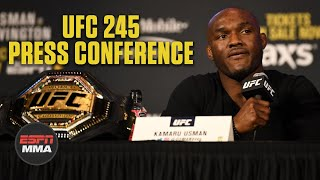 Kamaru Usman, Colby Covington trade verbal jabs at UFC 245 press conference | ESPN MMA