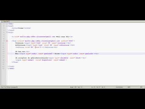 HTML tutorial 13 - forms deel 3