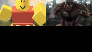 Eren vs The Armored Noob/Titan - COMPARISON