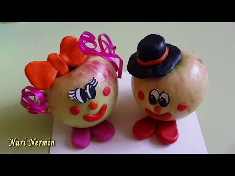 Поделки из яблока своими руками