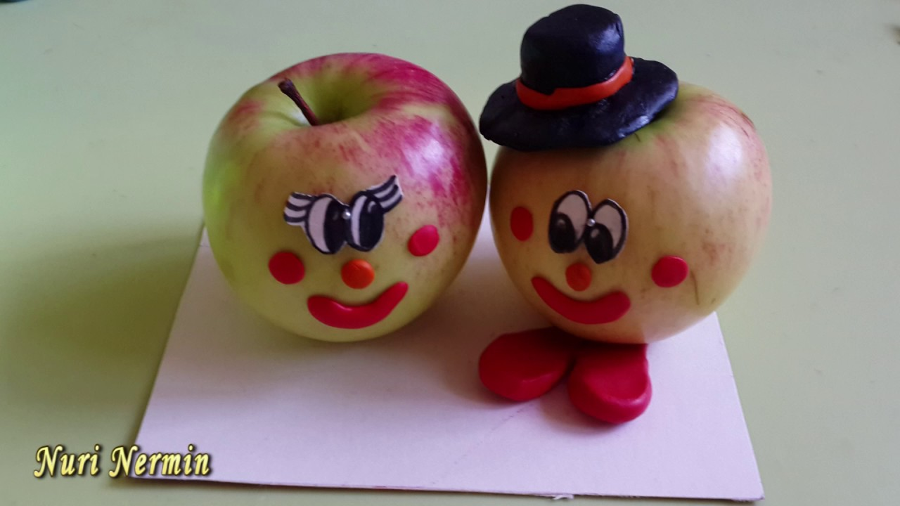 Поделки из яблок своими руками для детского сада фото как сделать 96