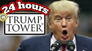 (EPIC!) 24 HOUR OVERNIGHT CHALLENGE IN TRUMP TOWER // 24 HOUR OVERNIGHT SNEAKING INTO TRUMP TOWER!