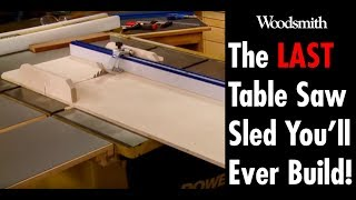 Building the LAST table saw sled you'll need! (FREE PLANS)