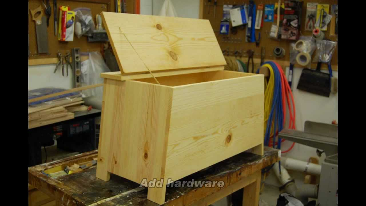 Build a Six Board Pine Chest - YouTube