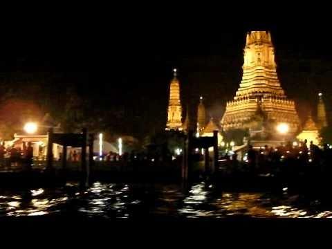 Loy Krathong Festival Chao Praya river