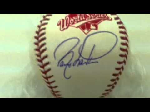 Barry Larkin Signed Cincinnati Reds 1990 World Series Reds Baseball TRISTAR
