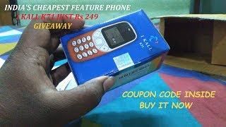 A $4 Mobile Cheapest Feature Phone Rs249 I KALL K71 Unboxing