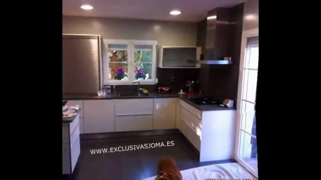 Muebles de cocina en color blanco y negro exclusivas joma - Cocinas en negro ...