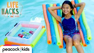 Relax By The Pool Hacks | LIFE HACKS FOR KIDS