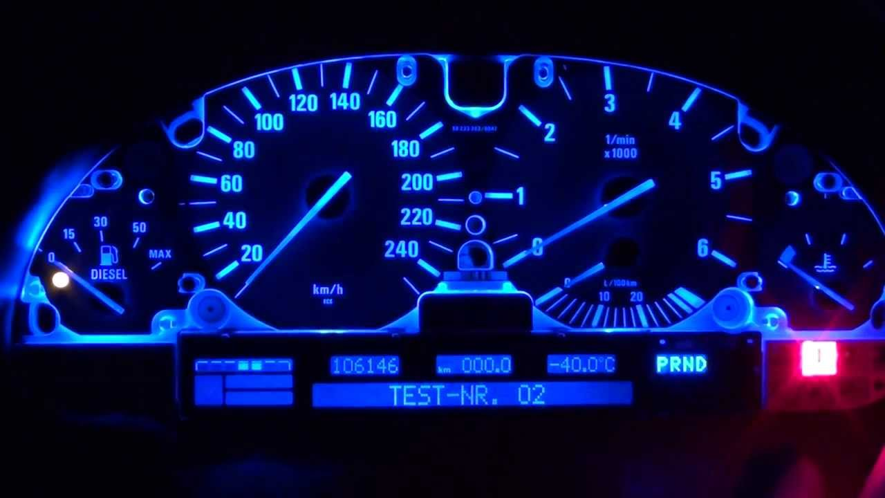 Bmw E39 Speedo Lcd Display Fixed Blue Led Converted