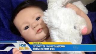 """Jovem de 15 anos cria bonecas que parecem """"bebês reais"""""""