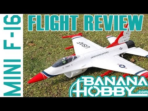 F-16 Falcon Thunderbirds 50mm EDF RC RTF Jet!  FLIGHT REVIEW in HD!
