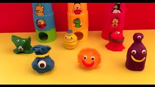 Play doh monsters peppe pig  fun spongebob minion bumba smurfs