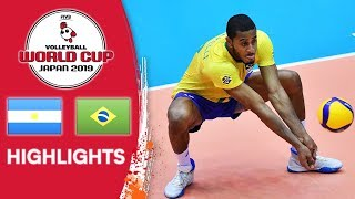 ARGENTINA vs. BRAZIL - Highlights | Men's Volleyball World Cup 2019