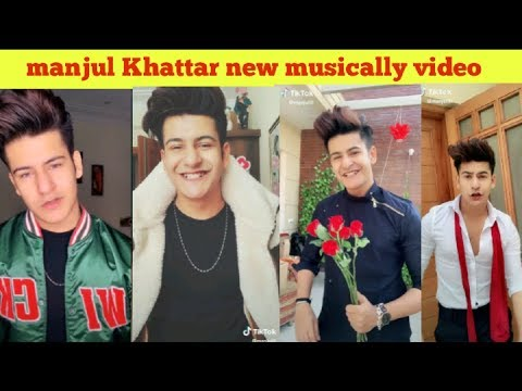 manjul Khattar new latest musically tik tok video 2018||MANJUL KHATTAR funny videos dance songs