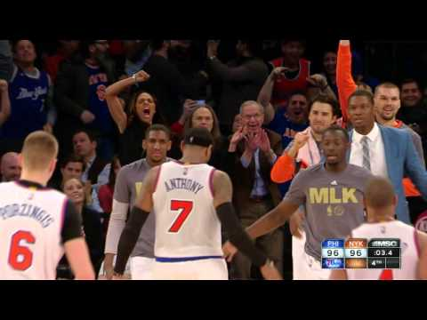 Carmelo Anthony forces OT with the BIG 3!