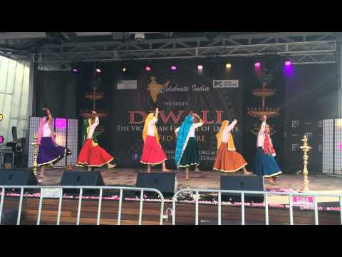 Haryanvi Group Dance!!!melbourne Diwali Festival 2014!!!victorian Festival Of Lights video