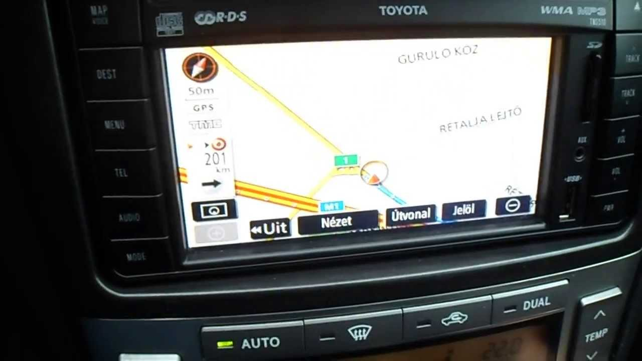 Tns510 Navigation System In Hungarian Youtube