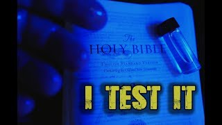I TEST The OIL that LEAKS from a BIBLE. What happens will BLOW YOUR MIND.