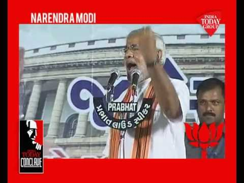 Watch India's most talked politician, Narendra Modi at India Today Conclave'13