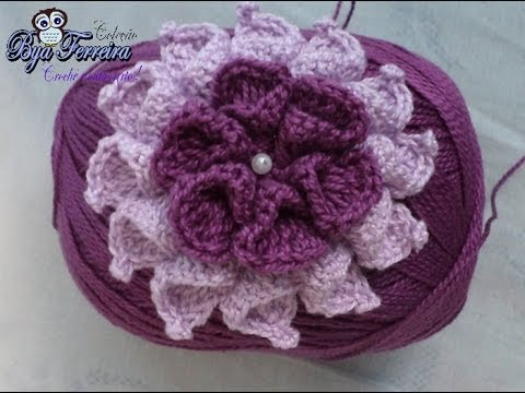 Flor de croche passo a passo video