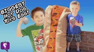 Giant HOT DOG Toys and Surprise Puppies!