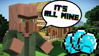 A VILLAGER STOLE MY HOUSE... | Minecraft Funny Moments