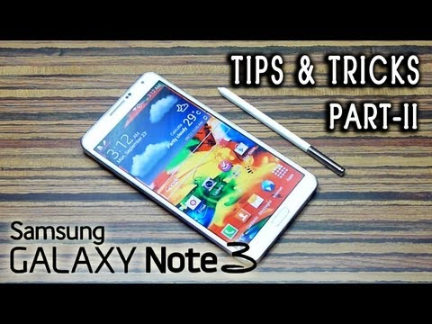 Samsung Galaxy NOTE 3 III TIPS & TRICKS (advanced) tutorial review [PART II]