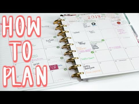 How I Plan : Monthly and Weekly | E.Michelle