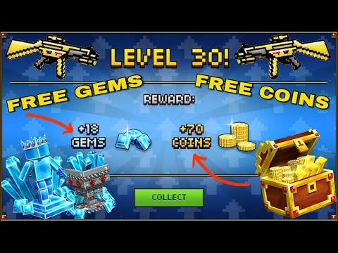 Pixel Gun 3D: Level 30! Free Coins And Gems [11.1.1] How To Level Up Fast No Hacks! Best Method 2016