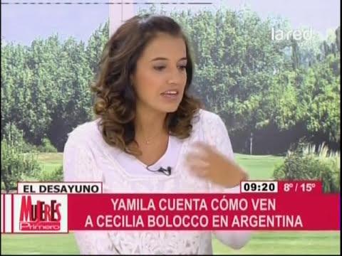 Yamila Reyna cuenta cómo ven a Cecilia Bolocco en Argentina