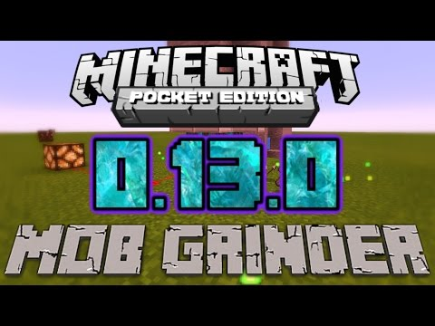 How to Make a Minecraft PE 0.13.0 Mob/XP Grinder