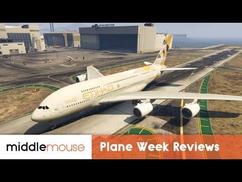 (GTA V) EMB-120. A320-200. A380-800 Mods - MiddleMouse Review