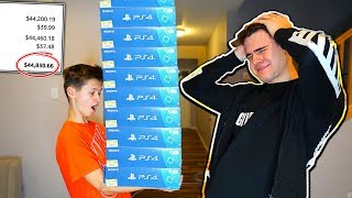 LITTLE BROTHER BUYS 100 PS4's USING MY CREDIT CARD... ($45,000)