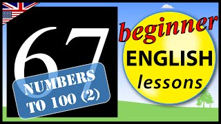 Numbers to 100 in English, Beginner English Lessons for Children