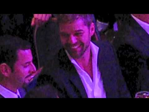 RICKY MARTIN with CARLOS GONZALEZ @ GLAAD MEDIA AWARDS March 2011