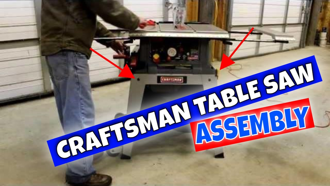 How to assemble a craftsman 10 39 39 table saw model 21807 for 10 inch craftsman table saw