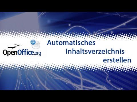 OpenOffice Writer: Automatisches Inhaltsverzeichnis erstellen