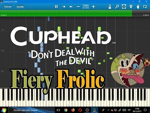 Fiery Frolic (Cuphead)-Synthesia-VideoGames sheet music #1