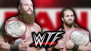 WWE RAW WTF Moments (19 August)   Seth Rollins & Braun Strowman Win Tag Team Titles