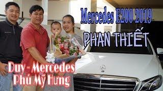 Mercedes E200 2019 giao xe về  Phan Thiết cho ông chủ cơ sở sản xuất bánh phở Viết Đại
