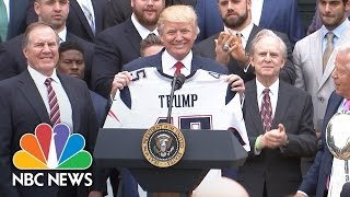 President Donald Trump Honors New England Patriots At White House Ceremony | NBC News