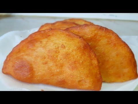 Чебуреки постные с картошкой, цыганка готовит. Gipsy cuisine.